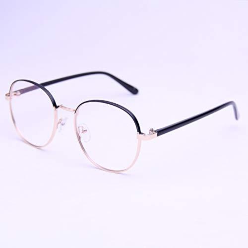 Sakuldes Retro Runde Brillenfassung Brillen Nicht verschreibungspflichtige Brille klare Gläser für Damen und Herren Schwarz