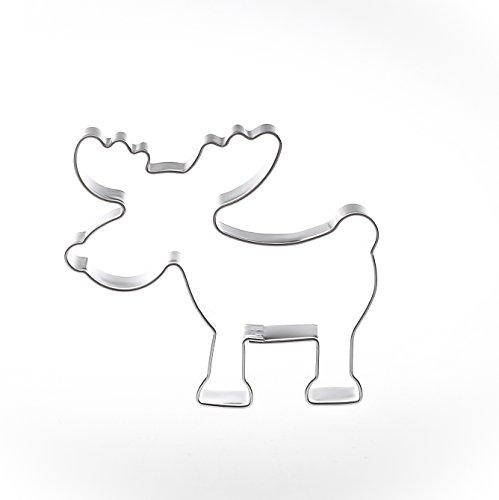Elch 6,3 cm Edelstahl Ausstecher Ausstechform Keksausstecher Elch Rentier Formina