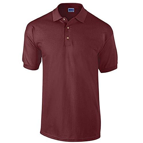 Pique Polo Maroon (Gildan - Ultra Cotton Ringspun Piqué-Poloshirt - bis Gr. 5XL / Maroon, M)