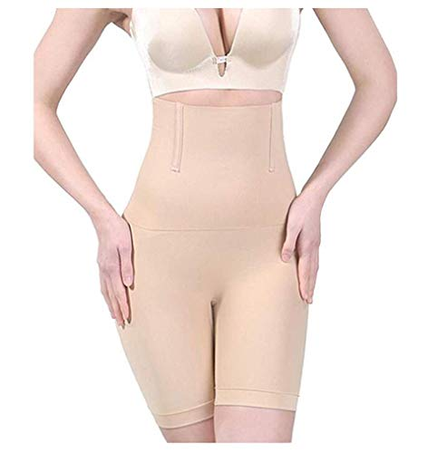 TIANMIAOTIAN Shapewear Tummy Control Shorts Für Damen Brilliance High-Waist Panty Body Shaper Für Die Mitte des Oberschenkels,Natural,S -