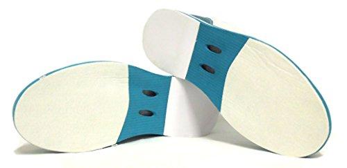 3G Kicks Scarpe da bowling, unisex, per destrimani e mancini, disponibili in 4colori, misura 36-48 Bianco/Blu