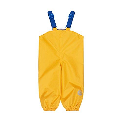 finkid Unisex Matschhose PULLEA mit Gummischlaufen am Bein 607000 yellow 80/90 (80-86)