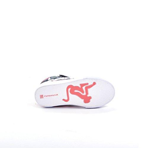 Drunknmunky Sneakers scarpe bambino rosso BOSTON CLASSIC 140 Multicolore