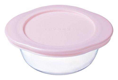 pyrex-baby-plat-rond-avec-couvercle-rose-15-cm