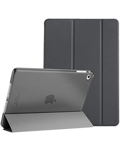 ProCase iPad Air 2 Ultra Dünn Smart Hülle, Leichte Stand Schutzhülle Shell mit Translucent Frosted Rückhülle für Apple iPad Air 2 (A1566 A1567) -Grau
