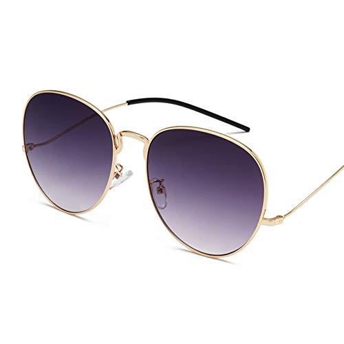 YHgiway Sonnenbrille für Männer Frauen Aviator Large Metal Frame-Colorful Gradient Linsen, UV400 Schutz YH6875,Gold/GrayGradient