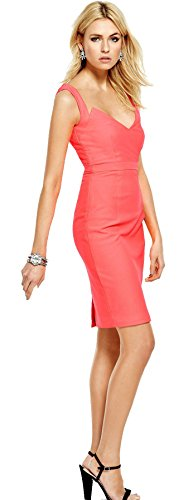 definitions-v-neck-pencil-dress-in-bright-coral-size-10