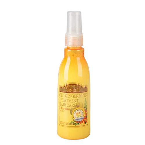 WINLISTING Weiches ätherisches Öl, Ingwer-Glanz-Haarspray, Advanced Molecular Hair Roots Treatment Recovery Moisturizing Verbessert die Trockenheit der Haare (Gelb) -