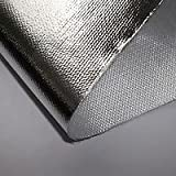 EXHAUST HEAT SHIELD ALUMINISED GLASS FIBRE CLOTH WRAP - 1000MM X 500MM WIDE
