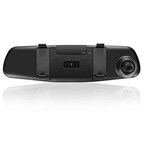 Dandeliondeme Armaturenbrett-Kamera (4,3 Zoll / 10,9 cm) 1080P Dual Linse Auto Rückfahrkamera DVR Spiegel Dashcam Recorder Kit Dual Electronics Dvrs