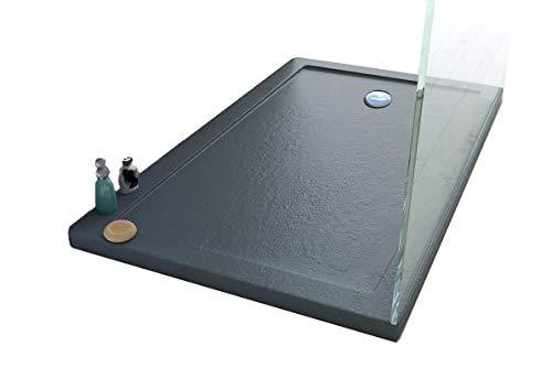 Webmart piatto doccia 80x140x4 rettangolare acrilico effetto pietra