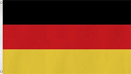 normani Fahne/Flagge mit Zwei Metallösen zur Befestigung und zum Hissen - Größe 90 x 150 cm Farbe Deutschland