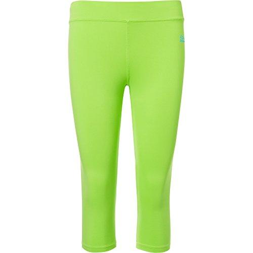 Sportkind Mädchen & Damen Tennis/Fitness / Sport 3/4 Leggings, neon grün, Gr. L
