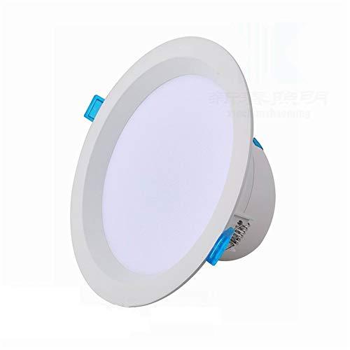 Mumnk 2,5 Zoll Weiß Canless LED Einbauleuchte Deckenleuchte 5W 6000K Daylight Baffle Trim Neubau oder Umbau IC-bewertet Low Profile Integrierte Bekleidungsgeschäft Panel Strahler -