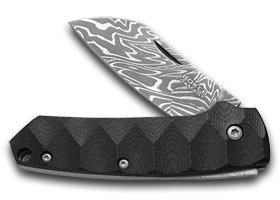 Boker Tree Brand G-10 and Titatium Cox Damascus 1/199 Slipjoint Special Run Pocket Knife Knives
