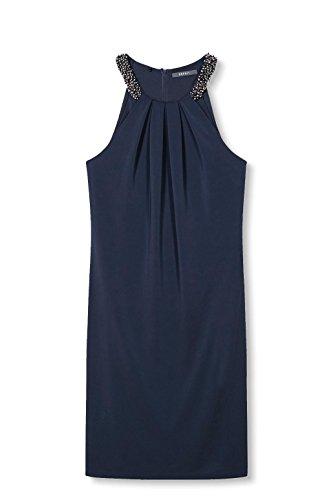 ESPRIT Collection Damen Kleid Blau (Navy 400)