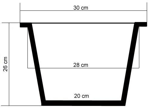 einsatz fuer pflanzkuebel Pflanzeinsatz Blumenkübeleinsatz 2er Set 30/20cm schwarz