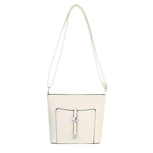 Taschen Umhängetasche Used Optik Modell Nr.1 Creme