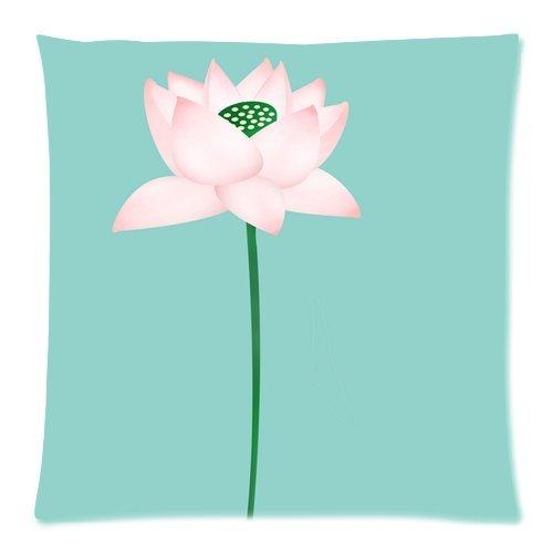 Tina's Store Dekoratives 18x 18EIN Single Flower Cartoon Bedruckte Muster Kissen Fall Kissen Fall (Zwei Schlafzimmer