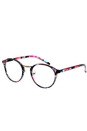 Women Ladies Girls Eye Glasses Eyeglasses Frame Plain Glasses Clear Lens Glasses Color 1 by Sopear