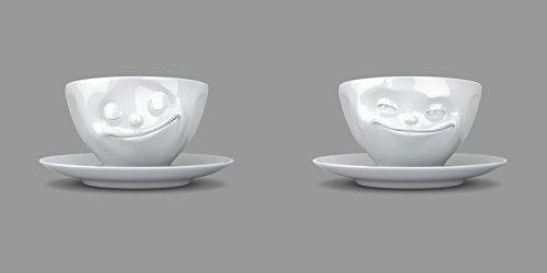 FIFTYEIGHT PRODUCTS Fiftyeight Kaffeetassen Set, 2-er Set glücklich und grinsend