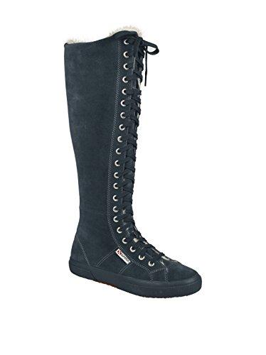 Superga - Superga Stivali donna pelle nero FULL CHARCOAL GREY