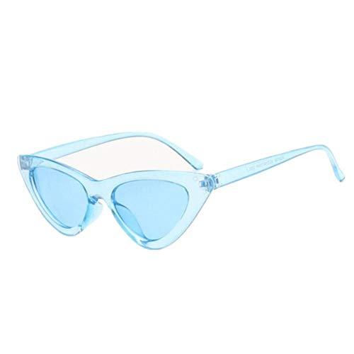 GAOHAITAO Small Cat Eye Sunglasses Women Designer Sunglass Female Sun Glasses for Women Lady Sunglass Mirror,Blue
