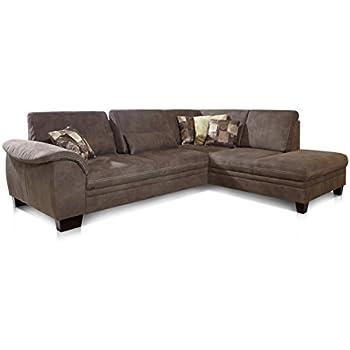 Cavadore 3er L-Couch Hussum / Polsterecke mit Federkern im ...