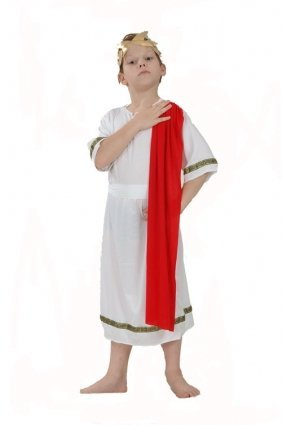 Roman boy's Emperor large costume by JoJo's Costumes (Red Toga Kostüm)