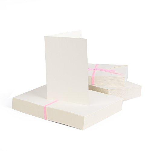 Jumbo-Set 100 x Faltkarten DIN A6, 105 x 148 mm + 100 x Umschläge, bunt (10 100 Briefumschläge)