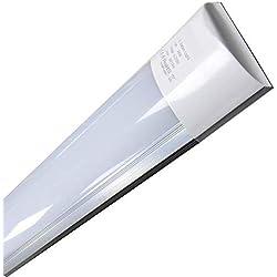 (LA) Luminaria LED de Superficie 120cm, 36w, Blanco Frío (6500K). Más luz que los antiguos fluorescentes ! Directa y sin parpadeos. 36w. (120cm)