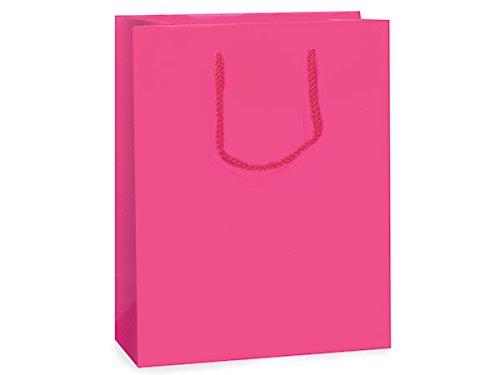 Hot Pink Matte Gift Bags Cubbulk 8X4X10 inch