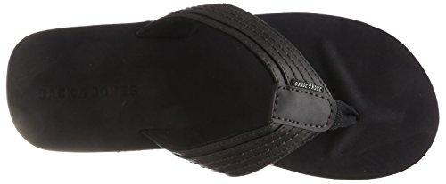 Jack & Jones Jfwbob Leather Sandal Anthracite Infradito Uomo, Grigio, 41 EU