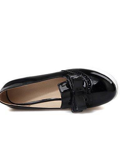 ShangYi Scarpe Donna - Scarpe col tacco - Casual - Plateau - Plateau - Finta pelle - Nero / Rosso / Bianco Black