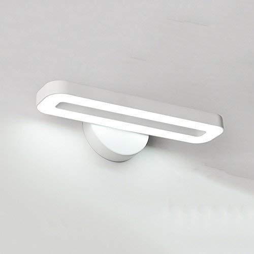 leuchte einfache Moderne Schlafzimmer Spiegel frontleuchte Wohnzimmer tv Wand Studie lesen büro led Wandleuchte nie rost (Farbe: weiß) ()