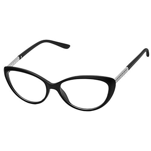 (forepin reg; Katzenauge Elvis Stil Brille Rahmen 50er 60er Jahre Partybrille Sonnenbrille Streberbrille)
