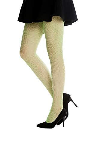 DRESS ME UP - W-020B-green Netz-Strumpfhose Pantyhose Damenkostüm Party Karneval Halloween grün Elfe S/M