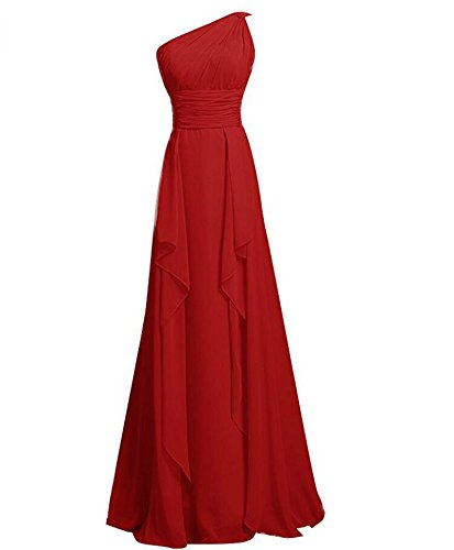 KA Beauty - Robe - Trapèze - Femme rouge foncé