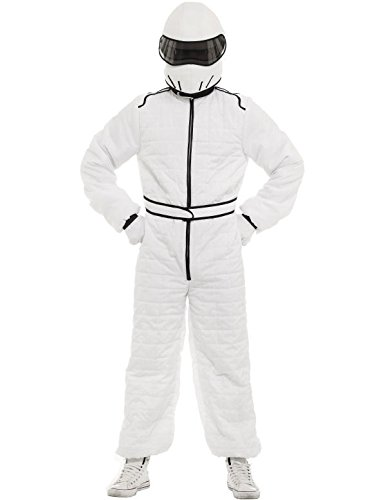 nzug und Helm Kostüm (Rennfahrer Kostüm)