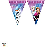 Procos 86921 – Guirnalda de banderillas de Disney Frozen Northern Lights, multicolor.