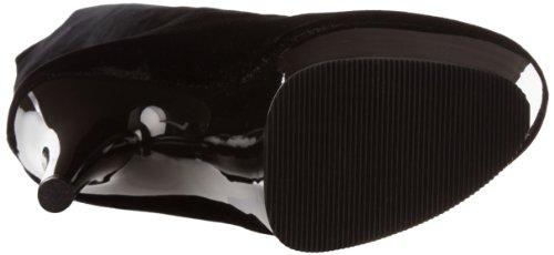 Pleaser Adore-3002, Bottes non doublées arrivant au dessus du genou femme Noir - Negro (Negro (Blk Str Velvet/Blk))