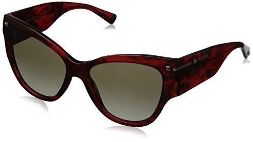 Valentino Damen 0VA4028 50208E 55 Sonnenbrille, Rot (Havana Red/Gradientgreen)