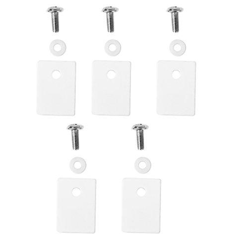 B Blesiya 5 Stück TO-3P TO3P 1x20x25mm Keramik Transistor Triac Thyristor Isolator Isolierung Schutz Glimmer
