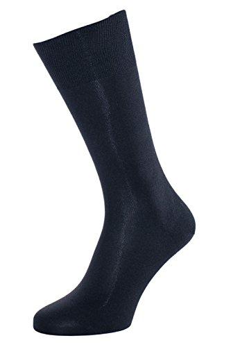 ALBERT KREUZ Die Elegante aus Seide - Herren-Socken aus 98% Seide marine 42-44 (Seide Strumpfwaren)