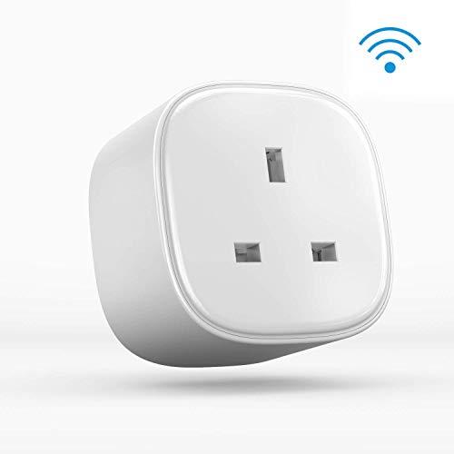 Mando a distancia con enchufe WiFi inteligente con aplicación Meross para trabajar con Amazon Alexa Google Assistant e IFTTT. No requiere cubo, 1 paquete.