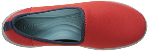 CROCS - Slipper BUSY DAY STRETCH SKIMMER black graphite Flame