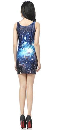Thenice - Robe - Trapèze - Femme Pictograph Taille Unique Galaxy Star