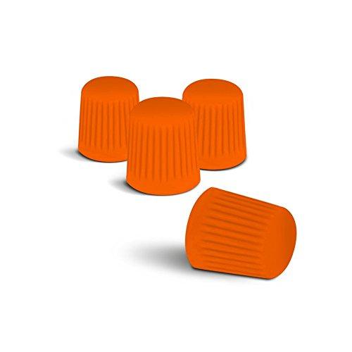 Preisvergleich Produktbild Farbige Ventilkappen (Orange) passend für alle PKW. Ein Highlight für jede Radkappe oder Radzierblende!
