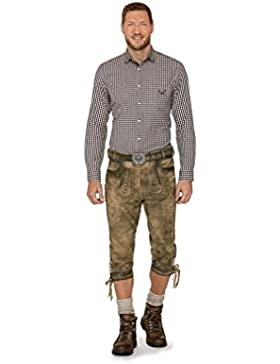 Michaelax-Fashion-Trade Stockerpoint - Herren Trachten Lederhose mit Gürtel in verschiedenen Farben, Johann