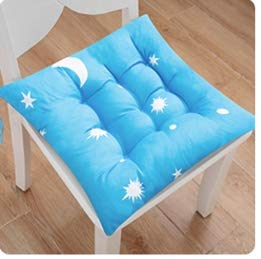 Chair Cushion Seat Seat Home Office Bench Cushion Thickening Student Soft Butt Pad Floor Summer Breathable 45 * 45Cm Sky Blue (Star Models) - Blue Chair Pad